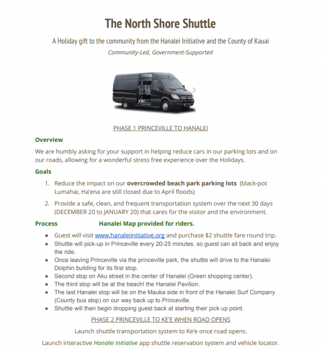 Ram Van Reservation >> North Shore Kauai Shuttle Hawaii Life Vacations