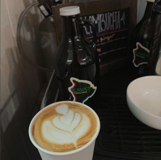 Coffee drink and kombucha jug from Kayas