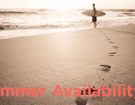 Summer Availability