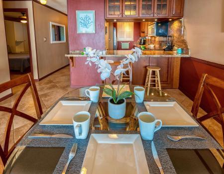 Maalaea Vacation Rental Maui Kitchen and Dining Room