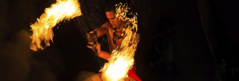 Kauai Luau Fire