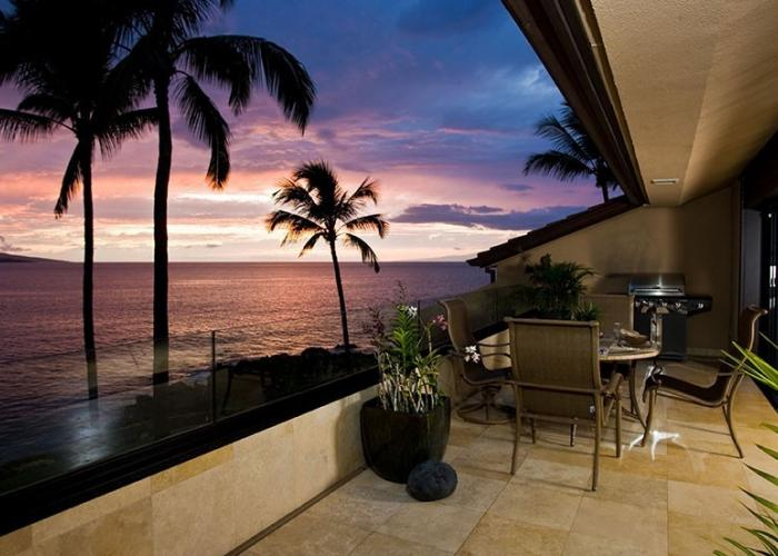 Sunset view from front lanai