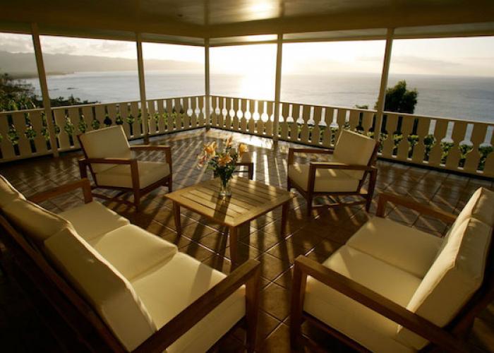 Pavillon at sunset