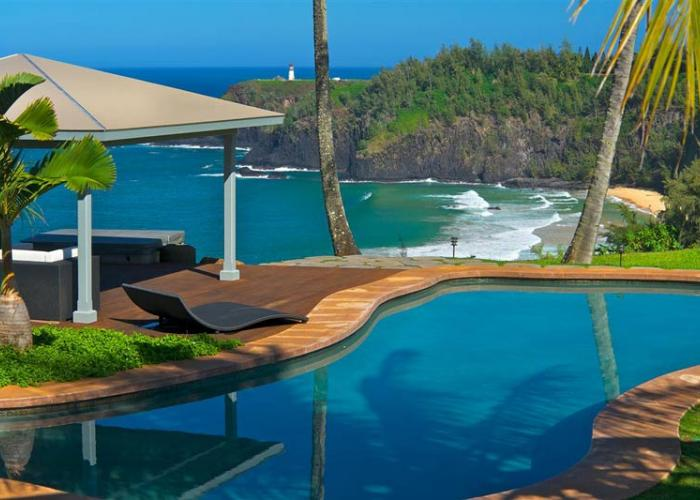 Pool with view of Secrets Beach