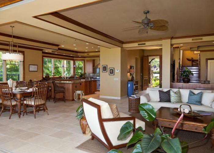 View into house from lanai