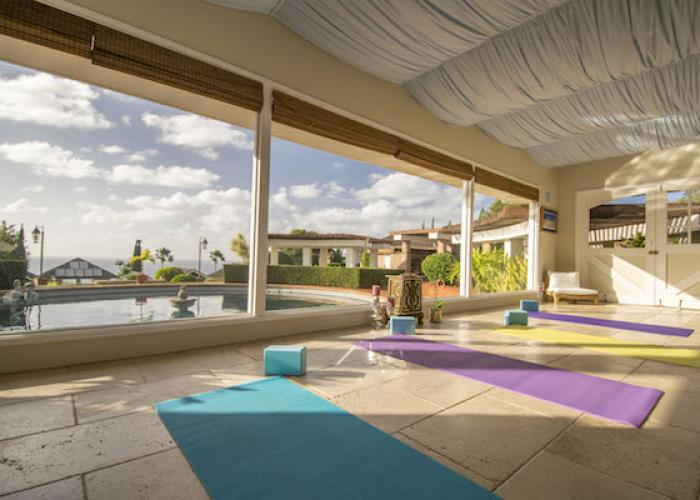 Yoga at onsite spa