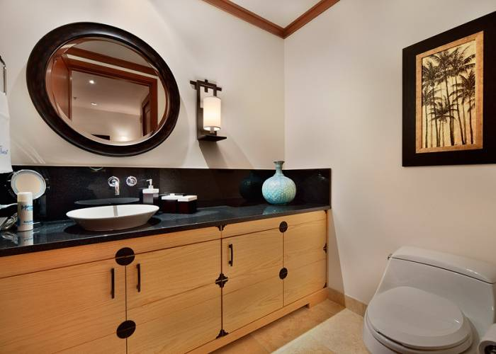 Guest Powder Room Located Between Bedrooms and Great Room