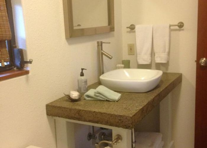 Bathroom with toilet and vanity