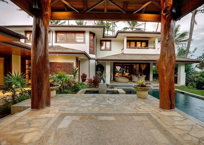 Entry cabana