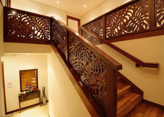 Hand carved Merbau staircase