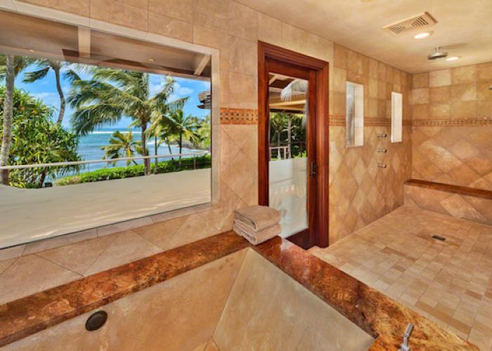 Master bath with ocean views