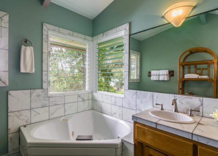 Jacuzzi tub in bathroom