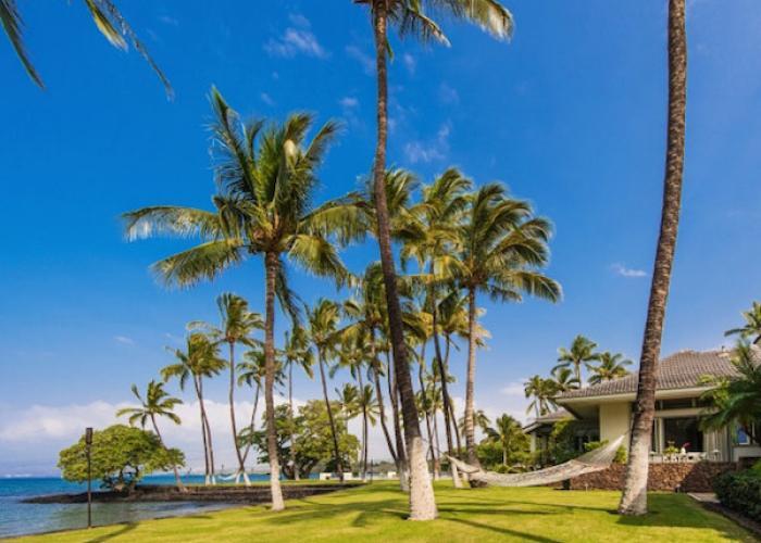 Exterior oceanfront grounds