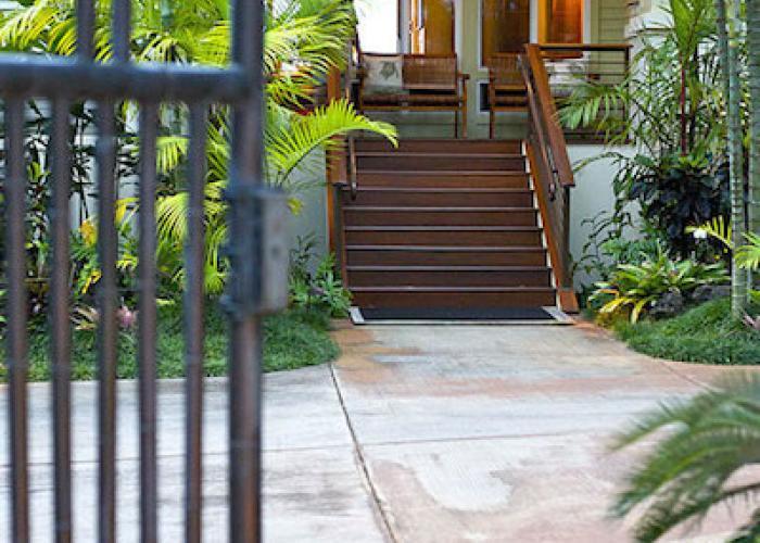 Entry through gate