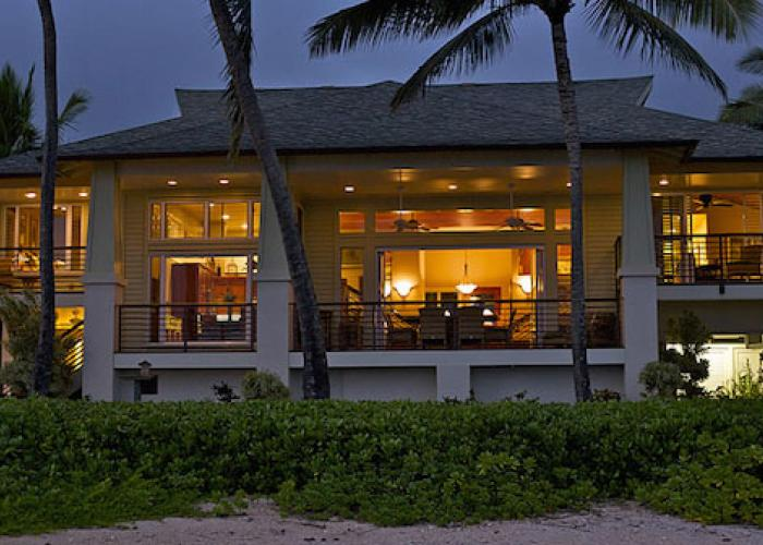 House at twilight