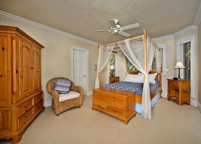 Bedroom with canopy