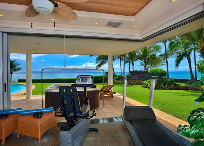Fitness equipment with ocean views