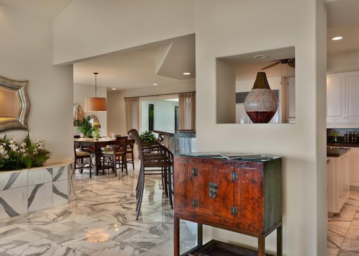 Marble interior floors
