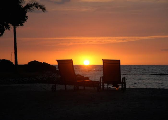 Sunset with chairs