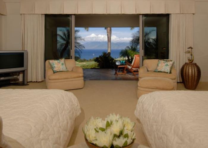 Bedroom with ocean views