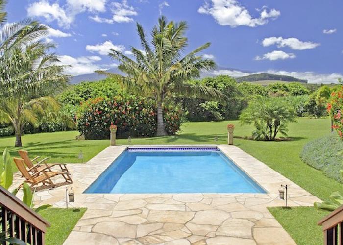 Pool towards yard