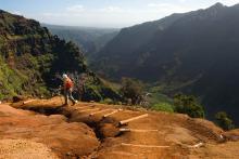 hiking trail in maui