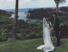 Wedding above Rock Quarry Beach