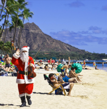 santa hawaii canoe
