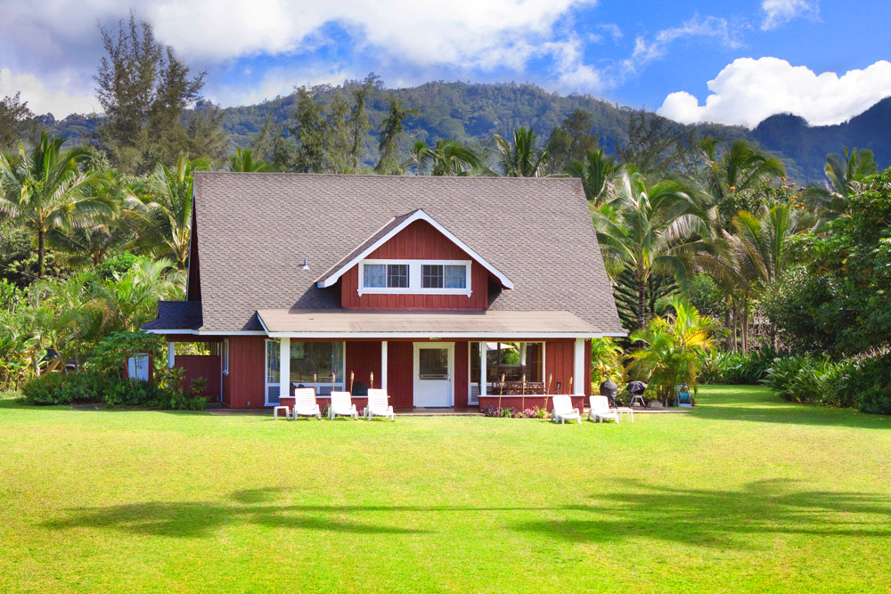 The hanalei faye house vacation rental in hanalei hawaii for Hawaii package homes