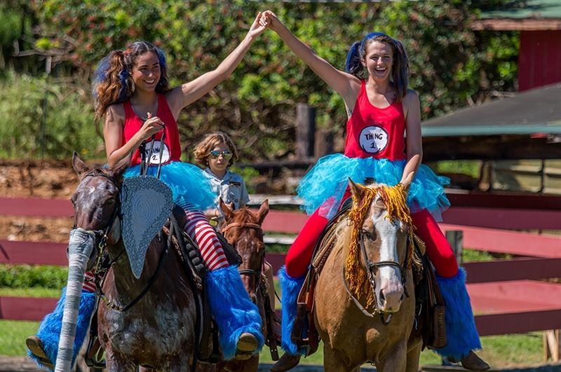 Gunstock Ranch horseback riders