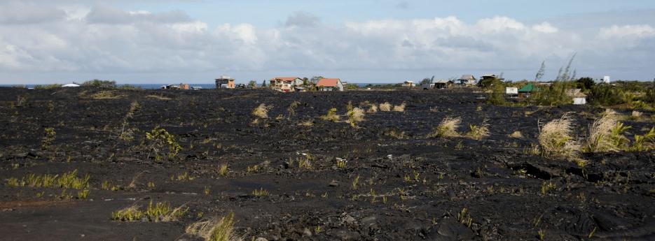 kalapana village after volcanic eruption