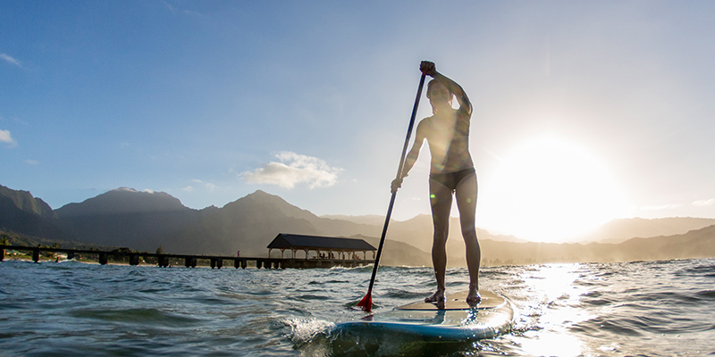 Hawaii Stand Up Paddle Boarder
