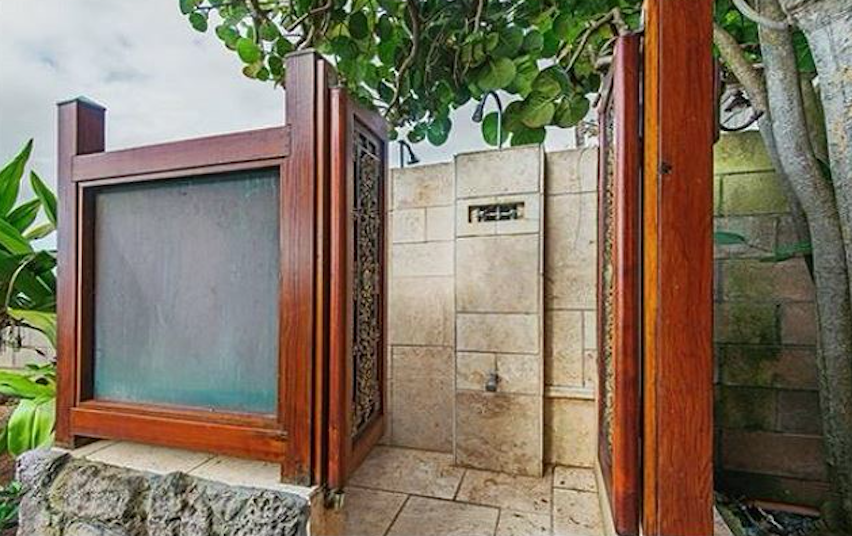 Hawaii Vacation Rental Home, North Shore Oahu Outdoor Shower