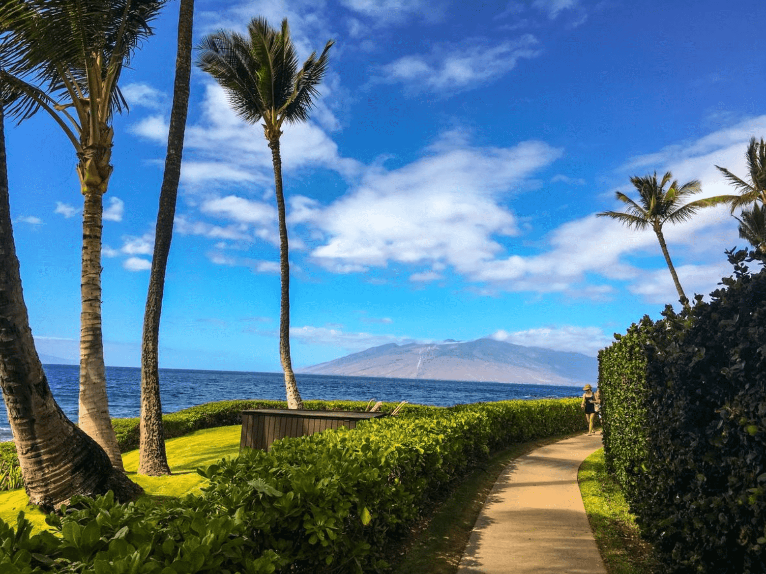 Wailea Beach boardwalk in South Maui, Hawai'i